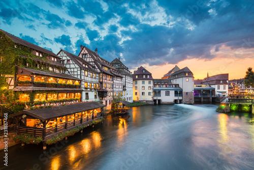 Leinwanddruck Bild Petite France in Strasbourg, France