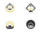 Cowboy hat icon logo template - 231888072