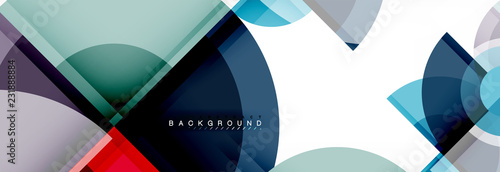 Poster Abstract background bright circles geometric design
