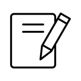 Notes Education Line Icon - 231889494