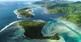 island landscape with lagoon in French Polynesia - 231894880