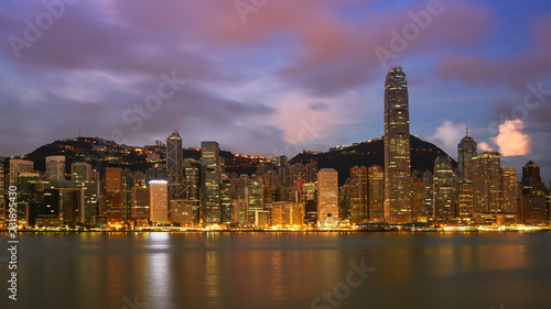 Poster cityscape with sunrise skyline and cloud