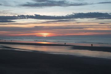 Couché de soleil à Trouville sur mer