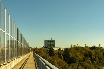 Blick von der Schnettkerbrücke auf das A 40_B 1 in Richtung Osten