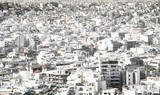 Panoramic view of white buildings city districts, Athens, Greece - 231913038