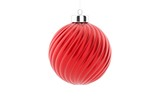 Japanese flag on a glossy christmas ball hanging on a string on white background