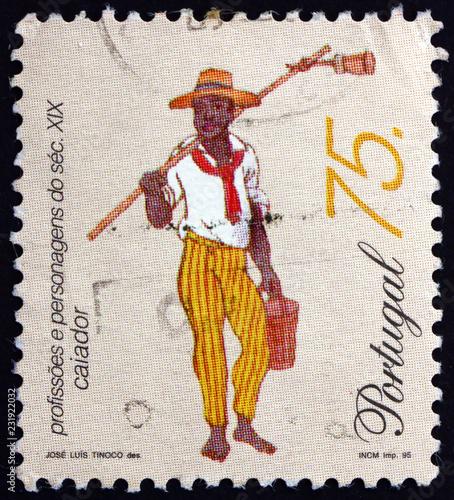 Foto Murales Postage stamp Portugal 1995 Whitewasher