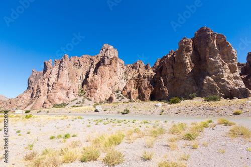 Leinwanddruck Bild Views of landscape near RN 25, Patagonia, Argentina