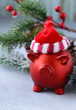 funny red pig - a symbol of the new year