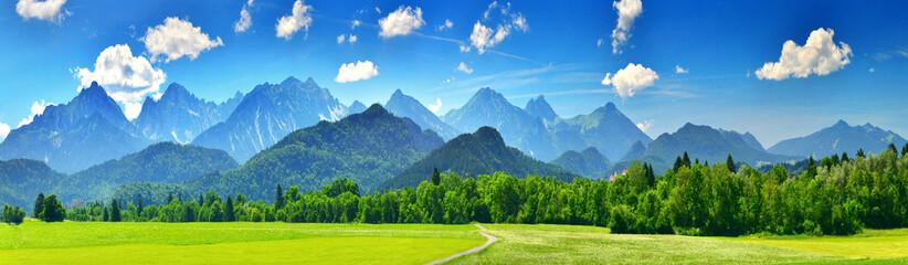 Panorama of summer mountains © denis_333