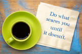 Do what scares you - napkin note - 231930084