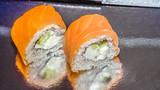 Japanese sushi traditional japanese food.Roll made of salmon - philadelfia © gorskayaphoto