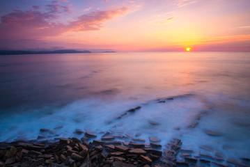 Beach of Barrika at sunset, Vizcaya, Basque Country, Spain © NoraDoa