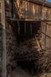 Leinwanddruck Bild - Weinvisionen, verfallene Hauerhuette am Loibner Weinwanderweg