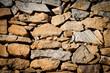 Leinwanddruck Bild - Weinvisionen, eine Steinmauer im Weingarten, die Weinterrassen der Wachau