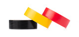 Tapes Electric cables rolls of insulating isolated on a white background - 231937460