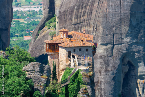 Wall mural Holy Monastery of Roussanou at the complex of Meteora monasteries, Greece