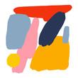 Minimalist Bright Abstract Drawing