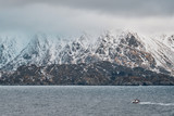 Fishing ship in fjord in Norway - 231947698