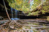 Alabama water fall with fall colors