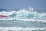 Chute en surf sur une vague © Guillaume