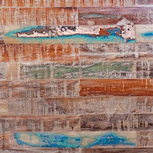 vintage colorful wooden surface closeup