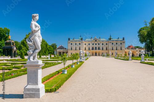 Zdjęcia na płótnie, fototapety na wymiar, obrazy na ścianę : Historical residence of Polish magnate Klemens Branicki, Branicki Palace in Bialystok, Poland.