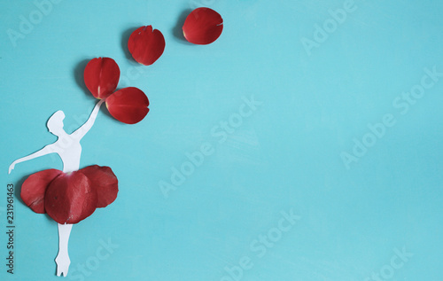 Foto Murales Roses background. Valentines day love beautiful.