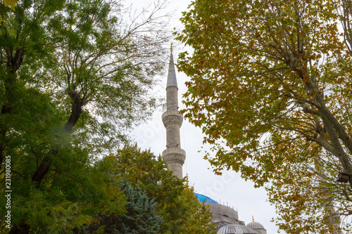 The legendary blue mosque  in Istanbul