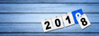 Leinwanddruck Bild - Frohes neues Jahr 2019!