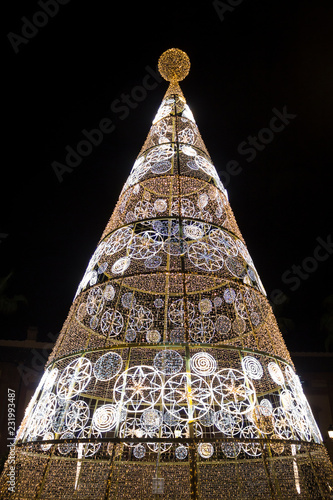 New year tree in Seville, Spain