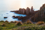 Long exposure day time of Pinnacle rocks formation at Phillip Island, Victoria, Australia. - 231994441