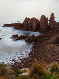 Close-up view of Pinnacles rock formation at Phillip Island, Victoria, Australia - 231994617