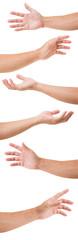 Set of man hands isolated on white background © littlestocker