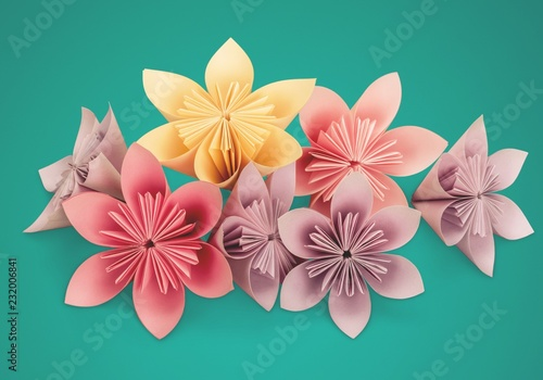 Origami Flowers On Background Buy Photos Ap Images Detailview