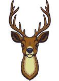 Cartoon deer head mascot - 232012887