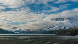 4k timelapse video of Grey Lake at Torres del Paine National Park in Chile at sunset - 232012890
