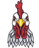 Chicken rooster head mascot - 232013455