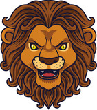 Angry lion head mascot - 232013810