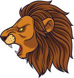 Angry lion head mascot - 232013873