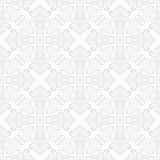 Orient vector classic pattern. Seamless abstract background with vintage silver elements. Orient background. Ornament for wallpaper and packaging - 232014000