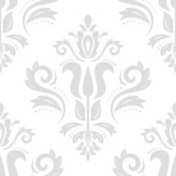 Classic seamless vector pattern. Damask orient light ornament. Classic vintage background. Orient ornament for fabric, wallpaper and packaging - 232015012