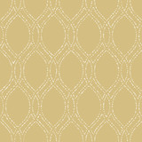 Seamless vector ornament. Modern olden and white dotted background. Geometric modern pattern - 232015087