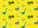 Dinosaurs Wallpaper Vector Illustration 11