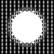 Abstract background, the basis for the design. Done in black and white colors. Balls, circles.