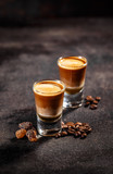 Shot cocktail with the taste of coffee