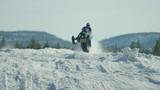 Stunning cinematic skidoo racing - 232031066
