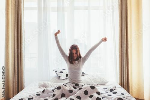 Leinwanddruck Bild Weekend morning in hotel