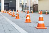 road cones in a row - 232036667