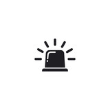police light square icon - 232037473